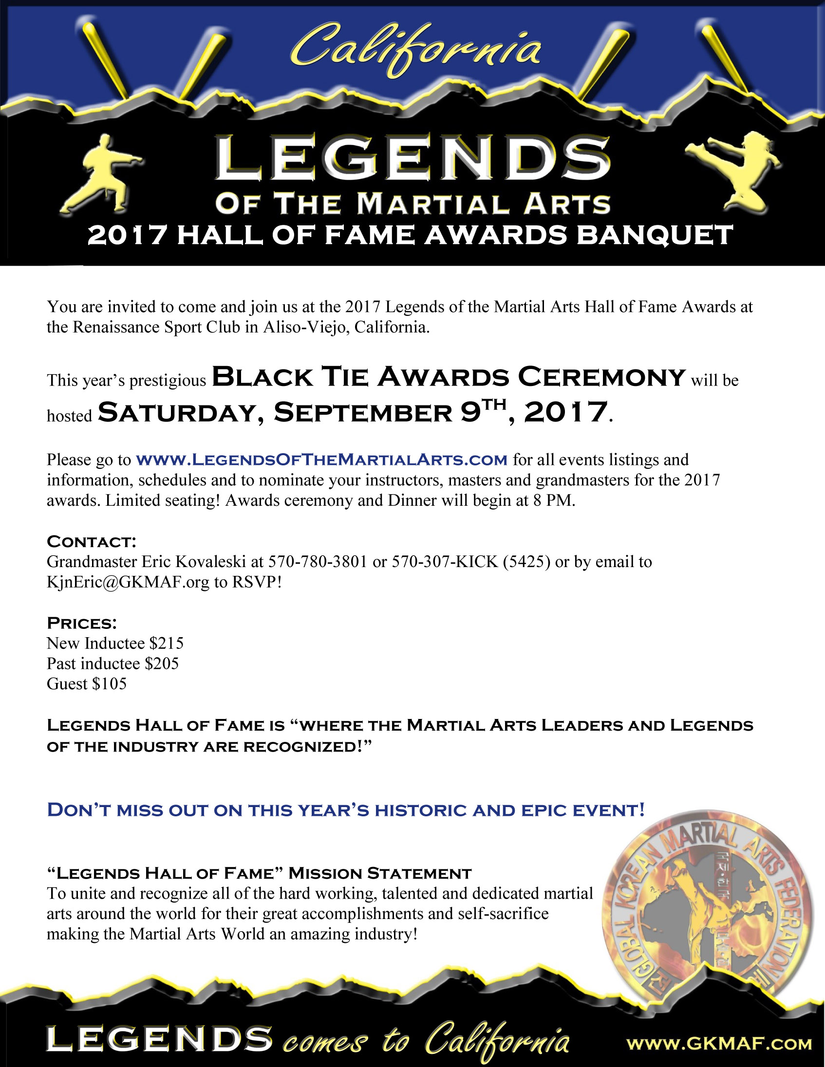 Awards Ceremony Text
